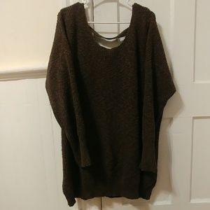 Torrid brand Olive green lace back sweater